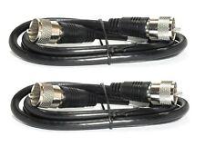 2 RG8X Coax 3ft Cable Assemblies 50 ohm with PL259 Connectors