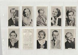 RJ Lea  1939  Set 54 Real Photos Famous Film Stars (Just before WW2)   (F676)