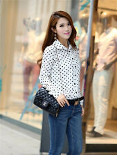 Fashion Women Lady Summer Casual Chiffon Long Sleeve Loose Shirt Blouse Tops