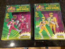 Karate Action Pink (Kimberly) and Yellow (Trini) Mighty Morphin Power Rangers