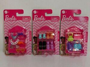 Barbie Accessories Mattel Toys Lot of 3 Packs Shoes Headbands Sunglasses Handbag