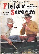 Field & Stream magazine June 1936 Arthur Fuller Cover vintage fishing hunting