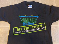 vtg 1987 SUMMER STAGE on the town T-SHIRT SM soft THIN 50/50 mel fletcher 80s