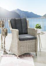 Gartensessel Destiny Sessel Luna Vintage Weiß Geflechtsessel Polyrattan Kissen