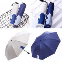 Eg _ Cartoon Bär Punkt Anti UV Sonne Regen Schutz 3 Faltbarer Schirm Schirme Sup