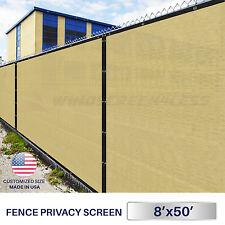 8'x50' Green/Black/Beige/Orange Fence Windscreen w/ Grommets Privacy Screen Mesh