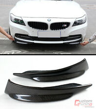 NEW E89 BMW Z4 CONVERTIBLE REAL CARBON FIBER FRONT BUMPER LEFT+RIGHT SPLITTERS