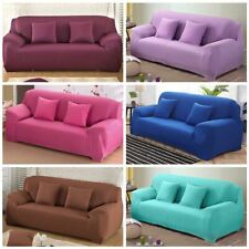 Solid Color Corner Sofa Covers For Living Room Elastic Spandex Slipcovers Couch