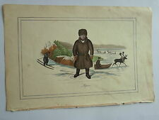LAPON costume et portrait LITHOGRAPHIE originale du recueil  M.BOULGON 1860