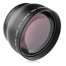 Opteka 49mm 2.2x AF Telephoto Lens for Canon EF 50mm f/1.8, Canon EF-M 15-45mm