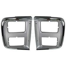 Chrome Headlight Trim Bezel for Dual Headlights Pair Set for 85-91 GMC Chevy Van