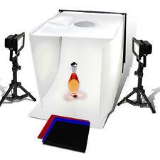 "25"" Tent Photo Studio LED Light Stand Set Lighting Photography 4 Color Back Kit"