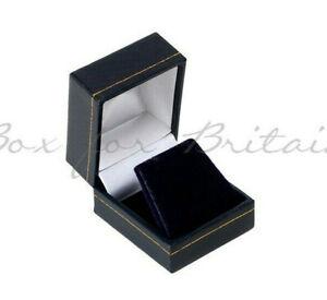 Classic Black Leatherette Earring, stud-earring Box, Jewellery display box.