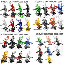 For SUZUKI GSXR1000 00-16 GSXR750 96-05 SV650 SV1000 Rearset Footpegs Rear Set
