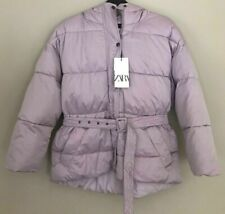 BNWT ZARA LILAC PADDED SOLARBALL PUFFER JACKET WITH HOOD  SIZE L