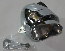 NEW CHROME METAL BICYCLE FRONT LIGHT W/ VIZOR VINTAGE CRUISER BULLET BIKE LIGHT