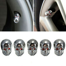 5pcs Auto Car SUV Skull Wheel Tyre Tire Stem Air Valve Caps Dust Cover Universal