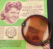 "Vintage 8cm Ring Grip ""Modern Style HAIR-GRIP AID TO BEAUTY CHARM AND GLAMOUR """