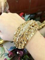 Wilfredo Rosado Statement Diamond Cuff Bracelet in18k Yellow Gold-HM2070