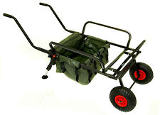 Bison pesca due ruote Barrow con Barrow BAG TROLLEY pesca