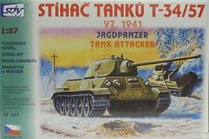 T-34/57 Model 1941, Ho, 1/87, SDV, Plastic, New