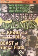 New Sealed Monsters & Madmen Beast Yucca Flats & The Brain That Wouldn't Die DVD