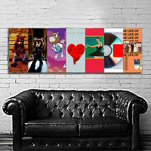 "Kanye West Rap Hip Hop Art Music Album Poster HD Print 12X36""/ 20X60""/ 24X72"""