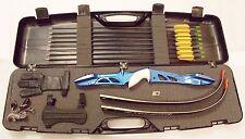 Bogenset Einsteigerset Core Jet Recurvebogen blau mit Koffer
