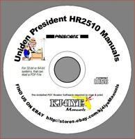 Uniden President HR2510 CD OWNER'S + SERVICE MANUALS HR2510 Radio CD MANUAL ONLY