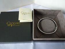 Clogau Bangle Sterling Silver Fine Bracelets without Stones