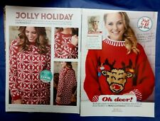 2 Christmas Jumpers knitting patterns for women ladies adult chunky yarn