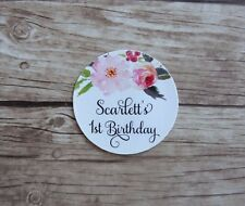 24 Personalised Stickers - Birthday, Wedding, Baby Bridal Shower, Thank You tag