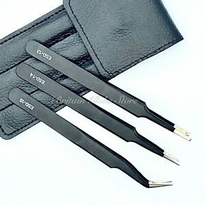 Professional Volume 3 Eyelash Tweezers Extension Individual ESD13,14,15 Set