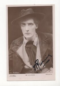 Henry Irving - Victorian Era Theatre Actor - Signed Photo Postcard