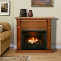 Duluth Forge Dual Fuel Ventless Gas Fireplace - 26,000 BTU, Remote Control
