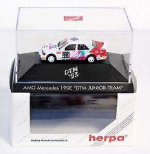"Herpa 035798, AMG Mercedes 190 E ""DTM Junior Team"",1:87, im Okt.         #ab1509"