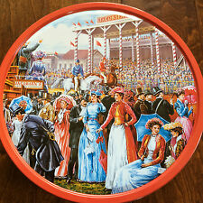 """10 x 5 """"A Day At The Races"""" empty biscuit tin , Horse Race"""