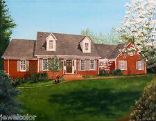 Home House Painting Portrait Artist Sharon Lamb Farm Cape Ranch Cabin Colonial