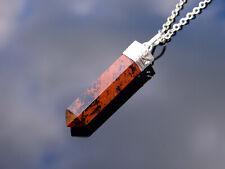 Hamogany Obsidian Crystal Hexa Point Pendant Natural Gemstone Necklace Healing S