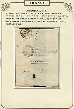 FRANCE STAMPLESS COVER PONT-AUDEMER 11/11/1840 TO MASTER OF REQUESTS EVREUX