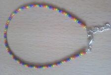 Gay Pride colours seed bead anklet/bracelet gay/lesbian, festival.