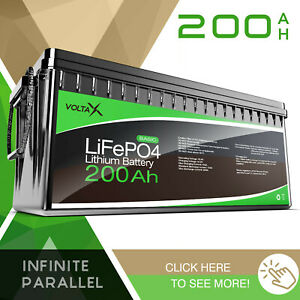 VoltaX 12V 200Ah Lithium Ion Battery LiFePO4 Deep Cycle Recycle Camping RV Solar