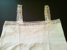Shirt Night Linen And Dentelle To Tapered Antique