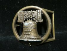 Vintage Brass Liberty Bell Belt Buckle