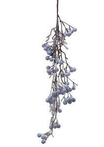 Artifical Blue Snowy Berry Decorating Spray Christmas Decoration