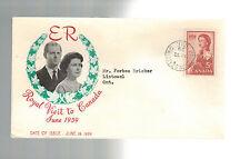 1959 Hamilton Canada Royal Visit cover to Listowel QE 2 Queen ELizabeth II