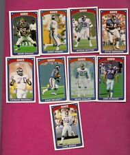 9 X 1990 PANINI NEW YORK GIANTS  STICKERS CARD (INV# A4988)