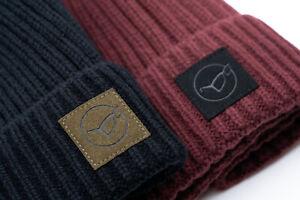 Korda The LE Fishermen Beanie Hat Black / Burgundy / Olive Carp Fishing Clothing