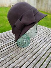 Felt Cloche Style Hat - 100% Wool - Chocolate Brown - M&S - M/L