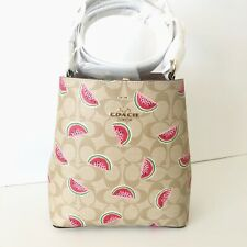 NEW Coach Small Town Bucket Bag Watermelon Summer Fruit Crossbody Purse NWT $378